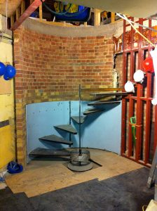 Mayfair apartment - stairway construction