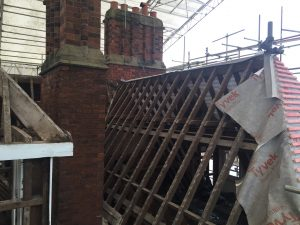 Hallmark Hotel Stourport Manor - roof renovation