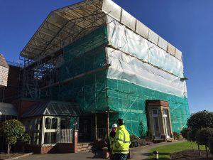 Hallmark Hotel Stourport Manor - complete scaffolding
